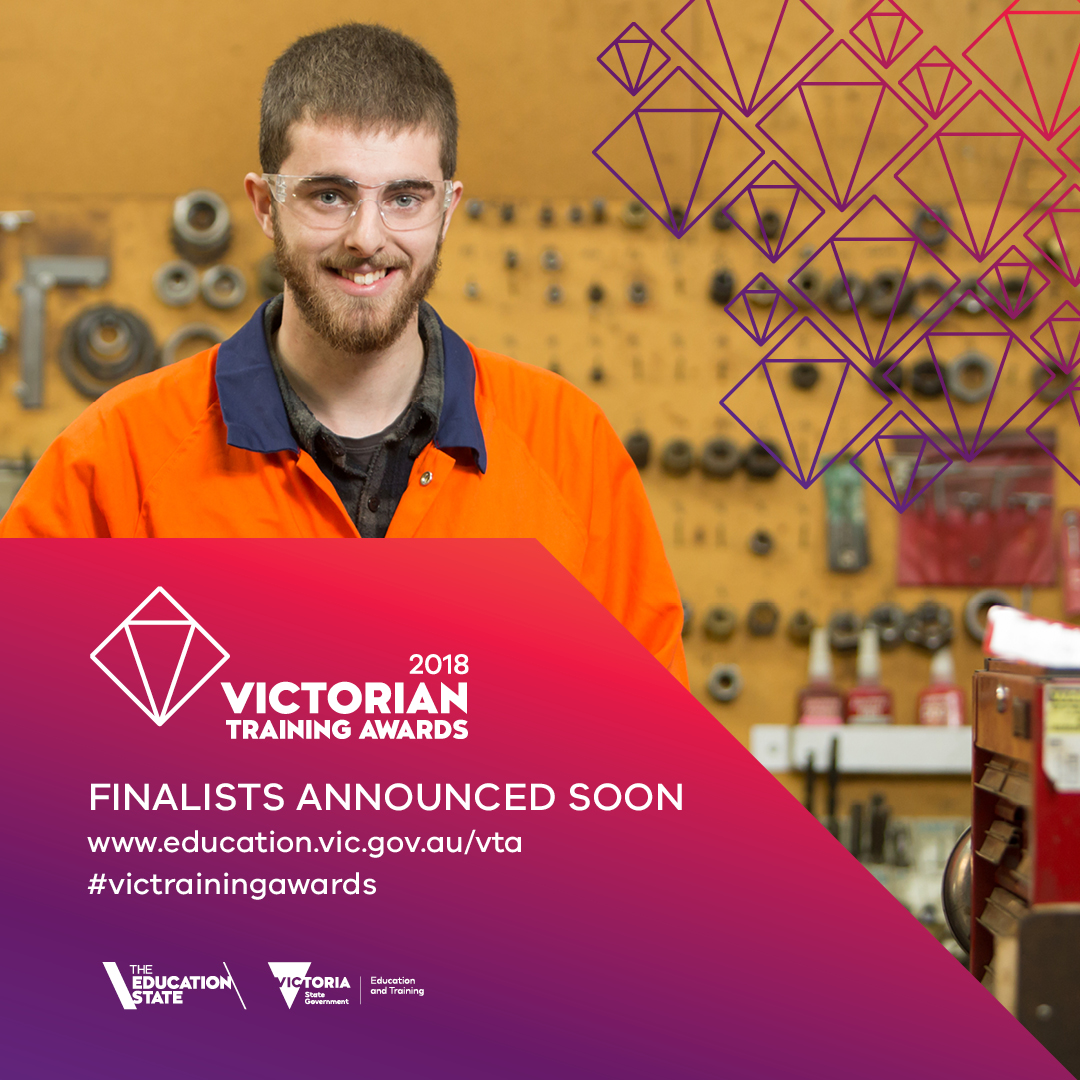 Finalists announced soon- banner showing young man in workshop