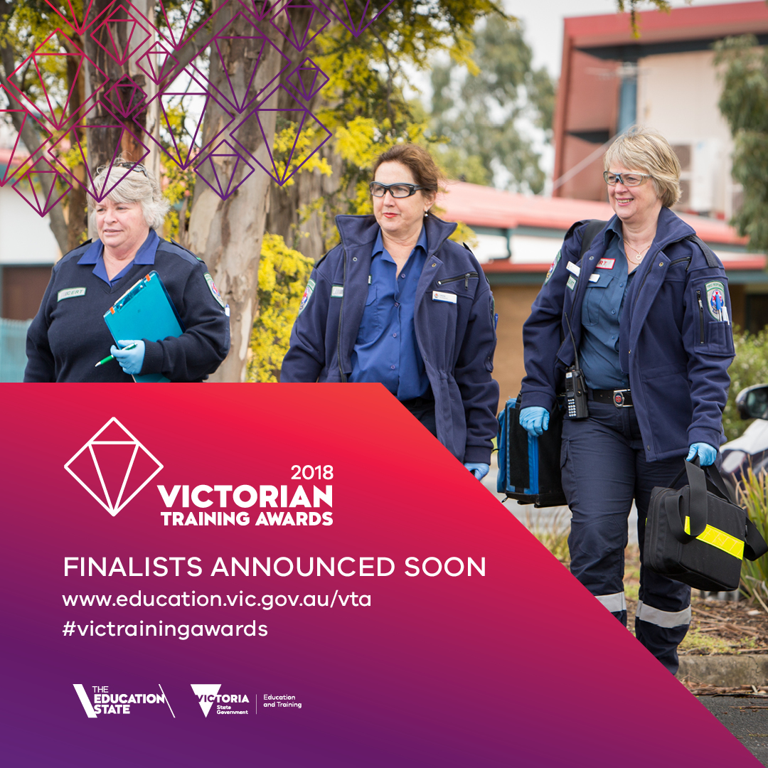Banner promoting finalist announcement - group of emergency workers