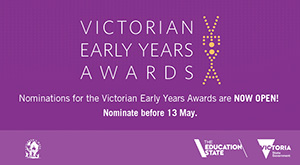The 2016 Victorian Early Years Awards logo.
