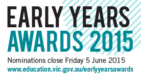 The 2015 Early Years Awards logo.
