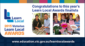 An image congratulating finalists of the Learn Local Awards.
