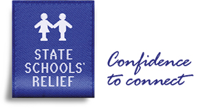 The State Schools' Relief logo.