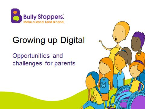 Cartoon image for report: 'Growing up digital'