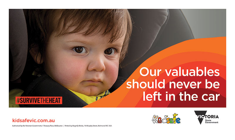 Promotional image of Kids in cars campaign