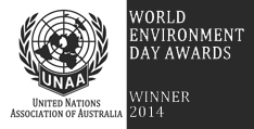 United Nations Association of Australia: World Environment Day Awards Winner 2014 logo