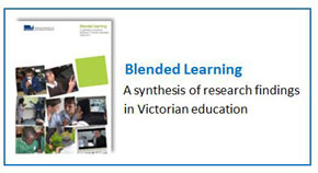 group of six images showing students and virtual learning