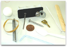 Group of objects of various materials