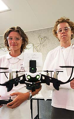 Lilydale High School students use a drone