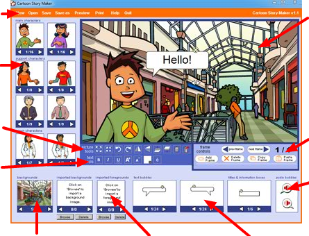 Languages Online Cartoon Story Maker